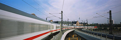 High Speed Photograph - Train On Railroad Tracks, Central by Panoramic Images