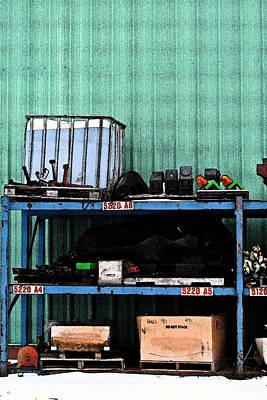 Photograph - Train Parts by Cyryn Fyrcyd