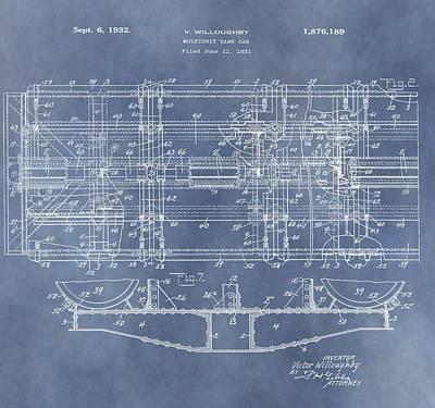 Train Patent Art Print