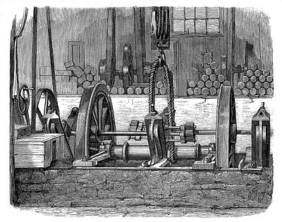 1875 Photograph - Train Wheel Production by Science Photo Library