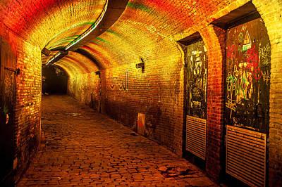 Photograph - Trajectum Lumen Project. Ganzenmarkt Tunnel 6. Netherlands by Jenny Rainbow