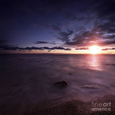 Tranquil Sea Against Moody Sky Art Print by Evgeny Kuklev