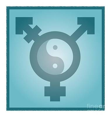 Self-acceptance Photograph - Transgender Balance, Conceptual Artwork by Stephen Wood