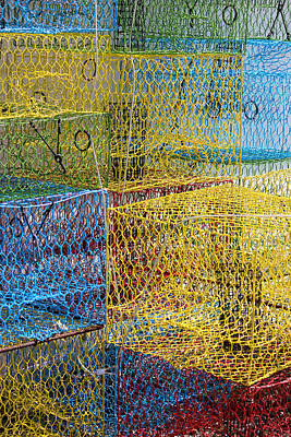 Crab Pots Art Print by John Illingworth