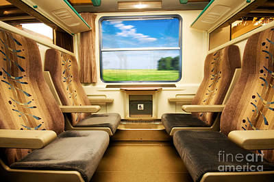 Motion Photograph - Travel In Comfortable Train. by Michal Bednarek