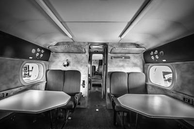 Photograph - Traveling First Class 1944 Short Sunderland Bw by Rich Franco