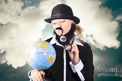 Travelling Tourist Planning Global World Tour Art Print by Jorgo Photography - Wall Art Gallery