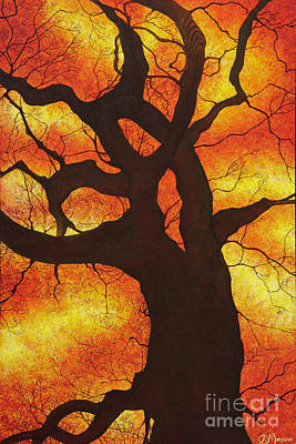 Firey Sunset Painting - Tree Spirit by Aimee Mouw