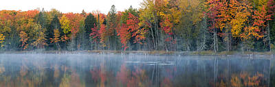 Alger Photograph - Trees In Autumn At Lake Hiawatha, Alger by Panoramic Images