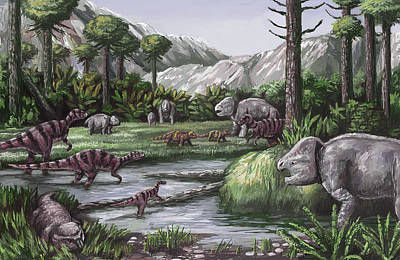 Triassic Photograph - Triassic Period, Illustration by Spencer Sutton