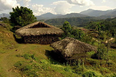 Naga Photograph - Tribal Homes In Arunachal Pradesh by Jaina Mishra