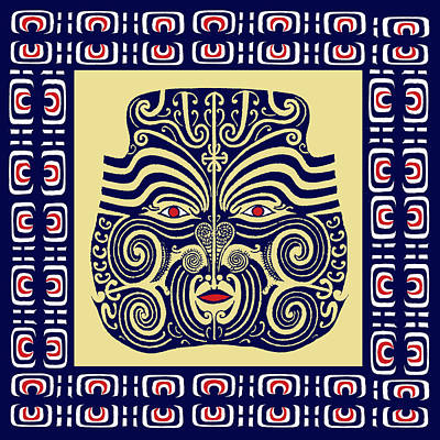 Marquesas Tribal Spirits Art Print