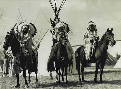 Trible Leaders  Art Print by Retro Images Archive