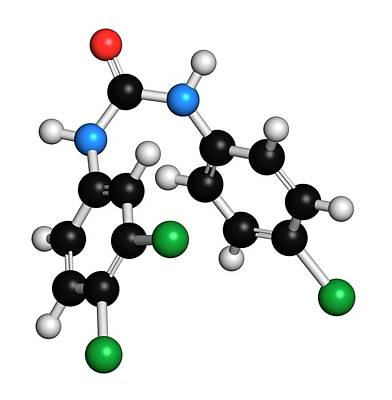 Toxicity Photograph - Triclocarban Antibacterial Agent Molecule by Molekuul