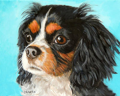 Tricolored Cavalier King Charles Spaniel Original by Dottie Dracos