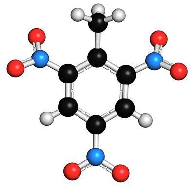 Trinitrotoluene High Explosive Molecule Art Print by Molekuul