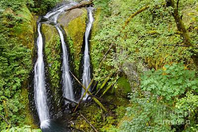 Rainforest Photograph - Triple Falls by Oscar Gutierrez