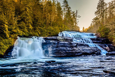 Photograph - Triple Falls by Randy Scherkenbach