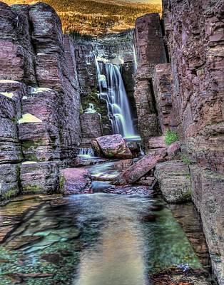 Tripple Photograph - Tripple Falls by Walt Landi