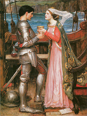 Tristram And Isolde Print by John William Waterhouse
