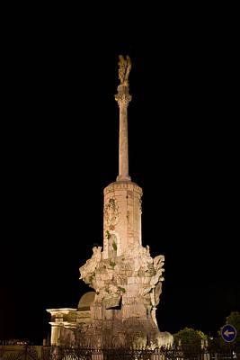 Triumph Of Saint Rafael Monument In Cordoba Art Print