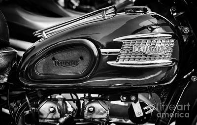 Photograph - Triumph Speed Twin Monochrome by Tim Gainey