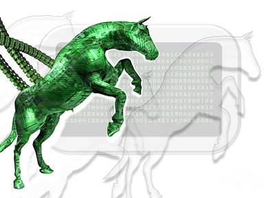 Trojan Horse, Conceptual Artwork Art Print by Victor Habbick Visions