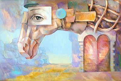 Horse Eye Painting - Trojan Horse by Filip Mihail