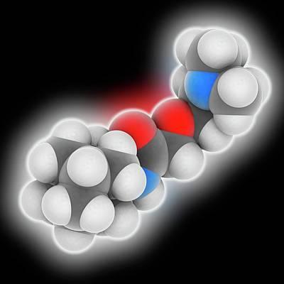 Tromantadine Drug Molecule Art Print