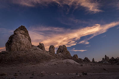 Photograph - Trona Pinnacles Sunset by Cat Connor