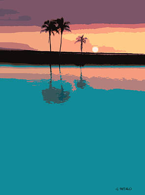 Painting - Tropical Sunset by George Pedro