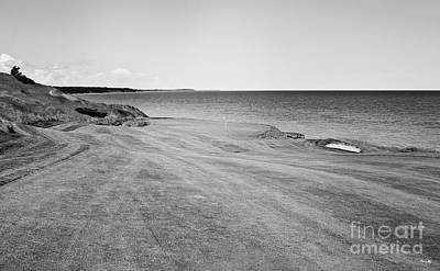 Golf Art Photograph - Trouble On The Right Side - Bw by Scott Pellegrin