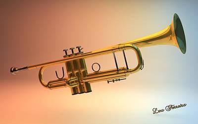 Digital Art - Trumpet by Louis Ferreira