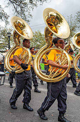 Marching Band Photograph - Tuba Brigade by Steve Harrington