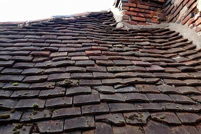 Tudor Tile Roof Print by Cordelia Molloy