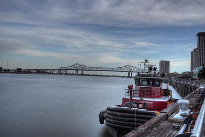 Photograph - Tug On Mississippi by Bourbon  Street