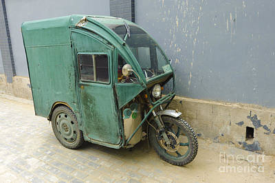 Tuk Tuk Photograph - Tuk Tuk 3-wheeled Motorcycle by John Shaw