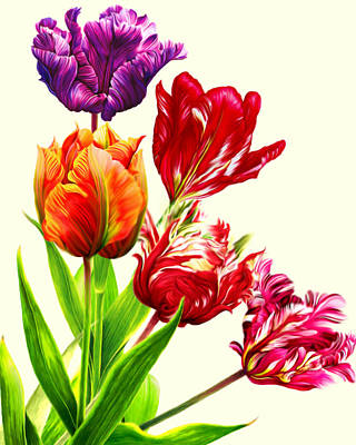 Mixed Media - Tulips by Anthony Seeker