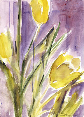 Painting - Tulips by Claudia Hutchins-Puechavy