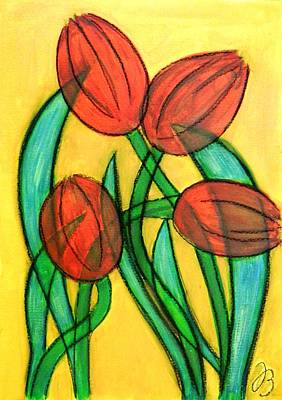 Painting - Tulips by Jutta B
