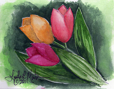 Painting - Tulips by Linda L Martin