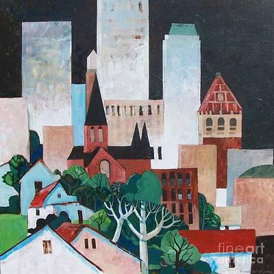 Oklahoma Painting - Tulsa by Micheal Jones