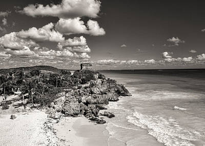 Photograph - Tulum Maya Ruin Beach by For Ninety One Days