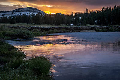 Photograph - Tuolumne Meadows Sunset by Cat Connor