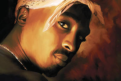 Rap Painting - Tupac Shakur by Sheraz A