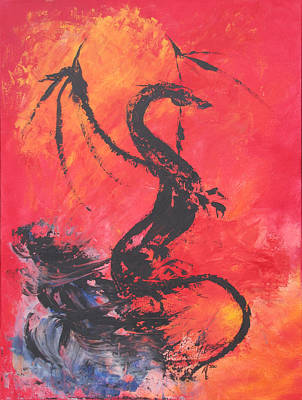 Turbulent Dragon Art Print