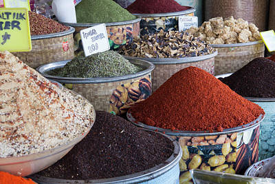 Medina Photograph - Turkey, Gaziantep, Medina, Spice by Emily Wilson
