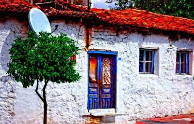 Turkish Mixed Media - Turkish Village House by Ken Biggs