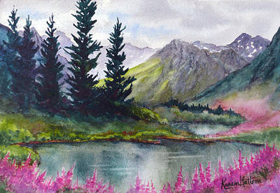 Turnagain Pass Fireweed Art Print