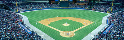 Pitching Photograph - Turner Field At Night, World Champion by Panoramic Images
